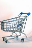 Shopping cart. Wheel close up Royalty Free Stock Photography