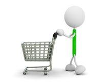 Shopping cart. 3d render illustration.Shopping cart Stock Photo