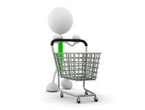 Shopping cart. 3d render illustration.Shopping cart Royalty Free Stock Photo