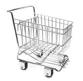 Shopping cart. Empty shopping cart  on white Royalty Free Stock Photography