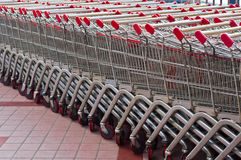 Shopping Cart. Many shopping carts stacked together Royalty Free Stock Image