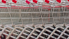 Shopping Cart. Many shopping carts stacked together Stock Image