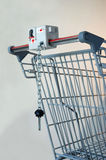 Shopping Cart. A portion of a shopping cart including handle bars and key Stock Photos