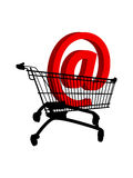 Shopping cart. Web shopping - buying cart - isolated vector Royalty Free Stock Images