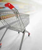 Shopping cart. Close up with a shopping cart Stock Photography