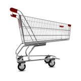 Shopping Cart. Empty shopping cart isolated on white background Stock Photos