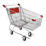 Shopping Cart. Empty shopping cart  on white Stock Images