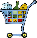 Shopping cart. On a white background vector Royalty Free Stock Photo