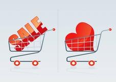 Shopping cart 3. Shopping cart vector drawing 3 Royalty Free Stock Images