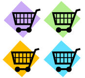 Shopping Cart. The Shopping Cart Logo Button Royalty Free Stock Photography