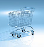 Shopping cart 3d Royalty Free Stock Photography