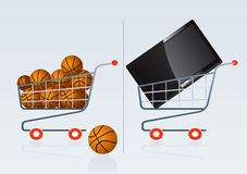 Shopping cart 4. Shopping cart vector drawing 4 Royalty Free Illustration