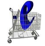 Shopping Cart. E-commerce Shopping Cart (Includes clipping path royalty free illustration