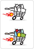 Shopping cart Stock Image