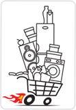 Shopping cart. For market design stock illustration