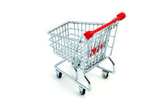 Shopping cart. Model - look in portfolio for more views royalty free stock photos