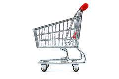 Shopping cart. Model - look in portfolio for more views royalty free stock images
