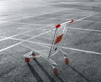 Shopping cart. In a store parking lot Stock Photography