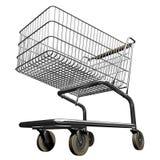 Shopping cart. 3d illustration of shopping cart royalty free illustration