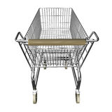 Shopping cart. 3d illustration of shopping cart vector illustration