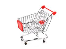 Shopping cart. Isolated on a  white background Royalty Free Stock Images