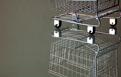 Shopping cart. Miniature stock photos