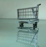 Shopping cart. Miniature Stock Images