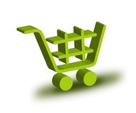 Shopping Cart. With 3D Illustration vector illustration