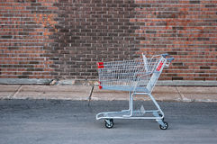 Shopping cart. Grocery shopping cart stock images