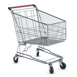 Shopping Cart. A shopping cart isolated on white Royalty Free Stock Photos