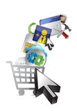 Shopping cart. abstract media concept Stock Photo