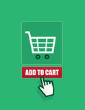 Shopping Cart Add To Cart Button Stock Photo