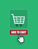 Shopping Cart Add To Cart Button Stock Photo