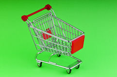 Shopping cart against the background Stock Images