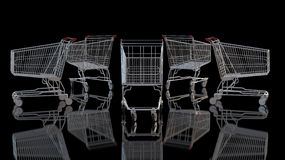 Shopping Cart against black Stock Photography