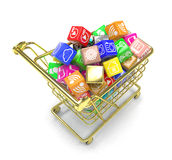 Shopping cart with application software icons Stock Image