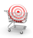 Shopping cart with arrow Stock Photos