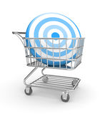 Shopping cart with arrow Royalty Free Stock Images