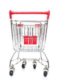 Shopping cart back view Royalty Free Stock Photography