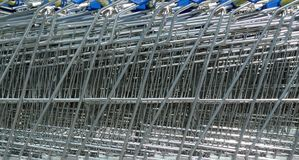 Shopping-cart background. Background of shopping trolleys/carts Stock Images
