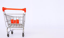 Shopping cart background Royalty Free Stock Image