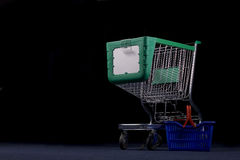 Shopping cart and basket Stock Photos