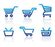 Shopping cart and basket icons Stock Image
