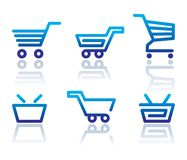 Shopping cart and basket icons Royalty Free Stock Image
