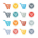 Shopping Cart, Basket, Web Symbols Royalty Free Stock Images