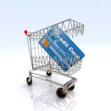 Shopping cart that bites Royalty Free Stock Images
