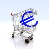 Shopping cart that bites Royalty Free Stock Image