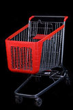 Shopping cart on black background Royalty Free Stock Image
