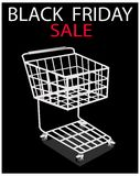 A Shopping Cart on Black Friday Promotion Stock Photography