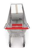 Shopping cart with boxes Stock Images
